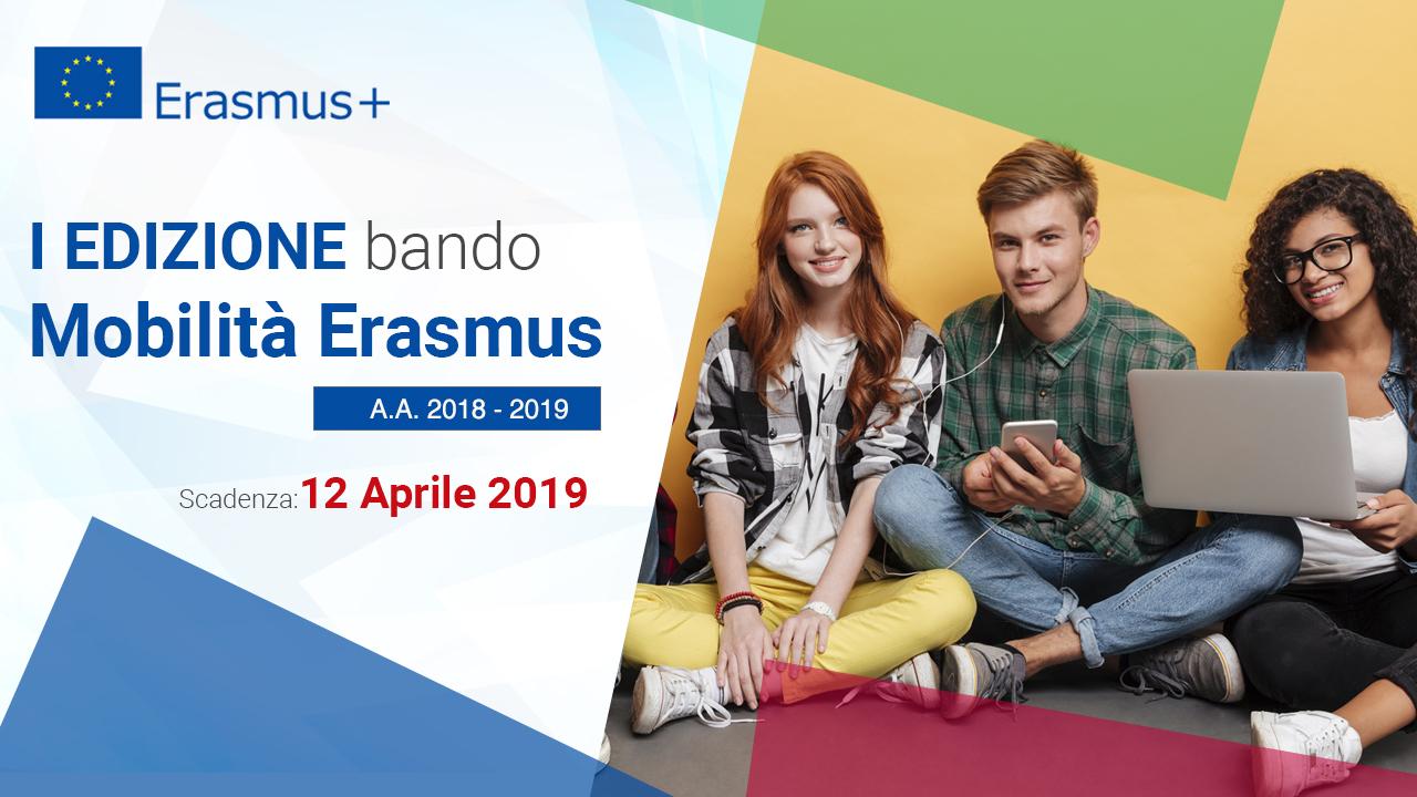 Bando Erasmus I semestre A.A. 2019 - 2020