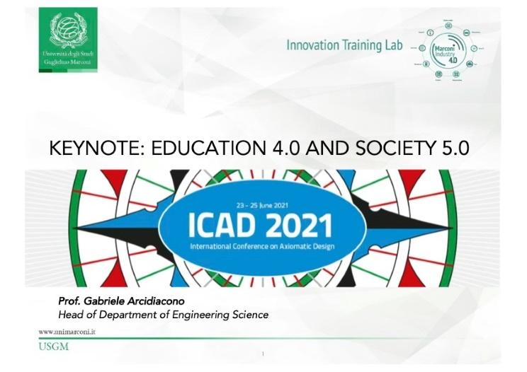 Keynote speach ICAD 2021