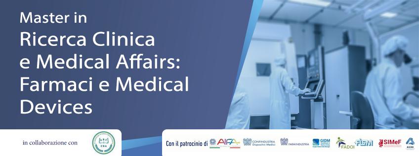 Master in Ricerca Clinica e Medical Affairs: Farmaci e Medical Devices (2° livello)
