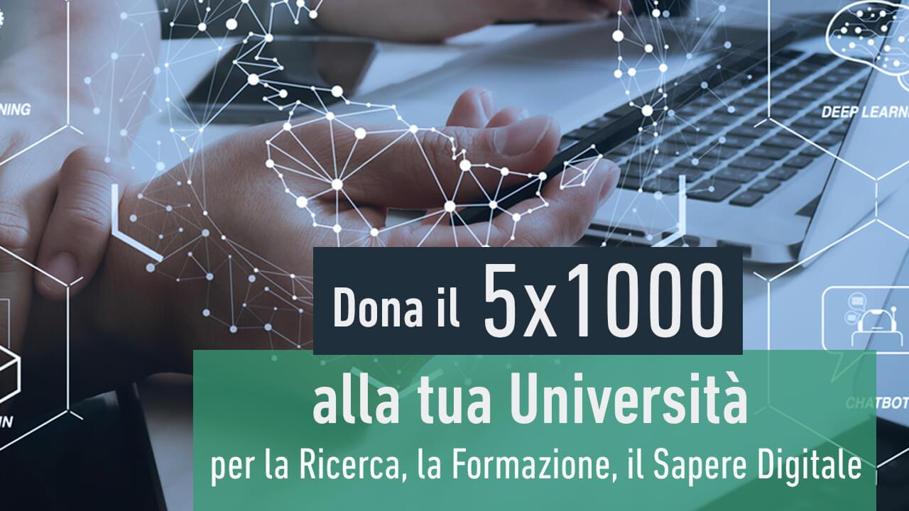 Dona il 5x1000 alla tua Università
