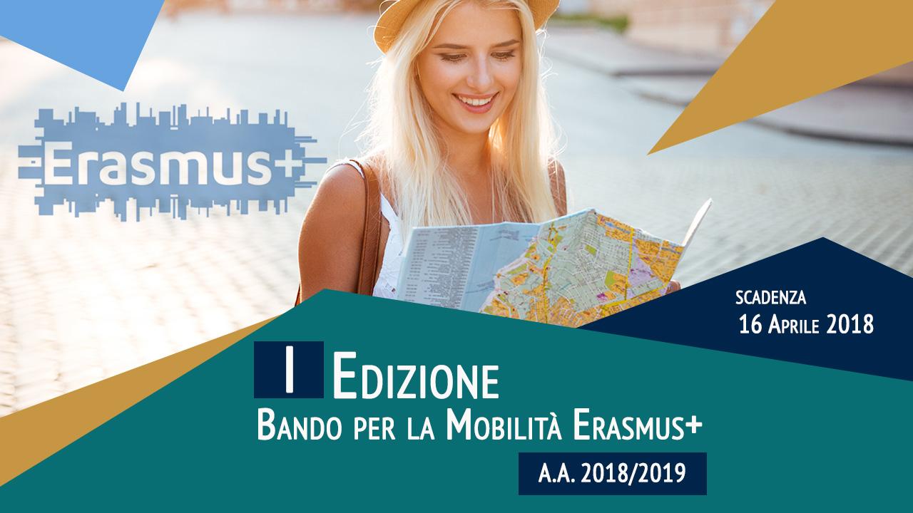 Bando per la mobilitá Erasmus+ per studio e tirocinio primo semestre a.a. 2018-2019