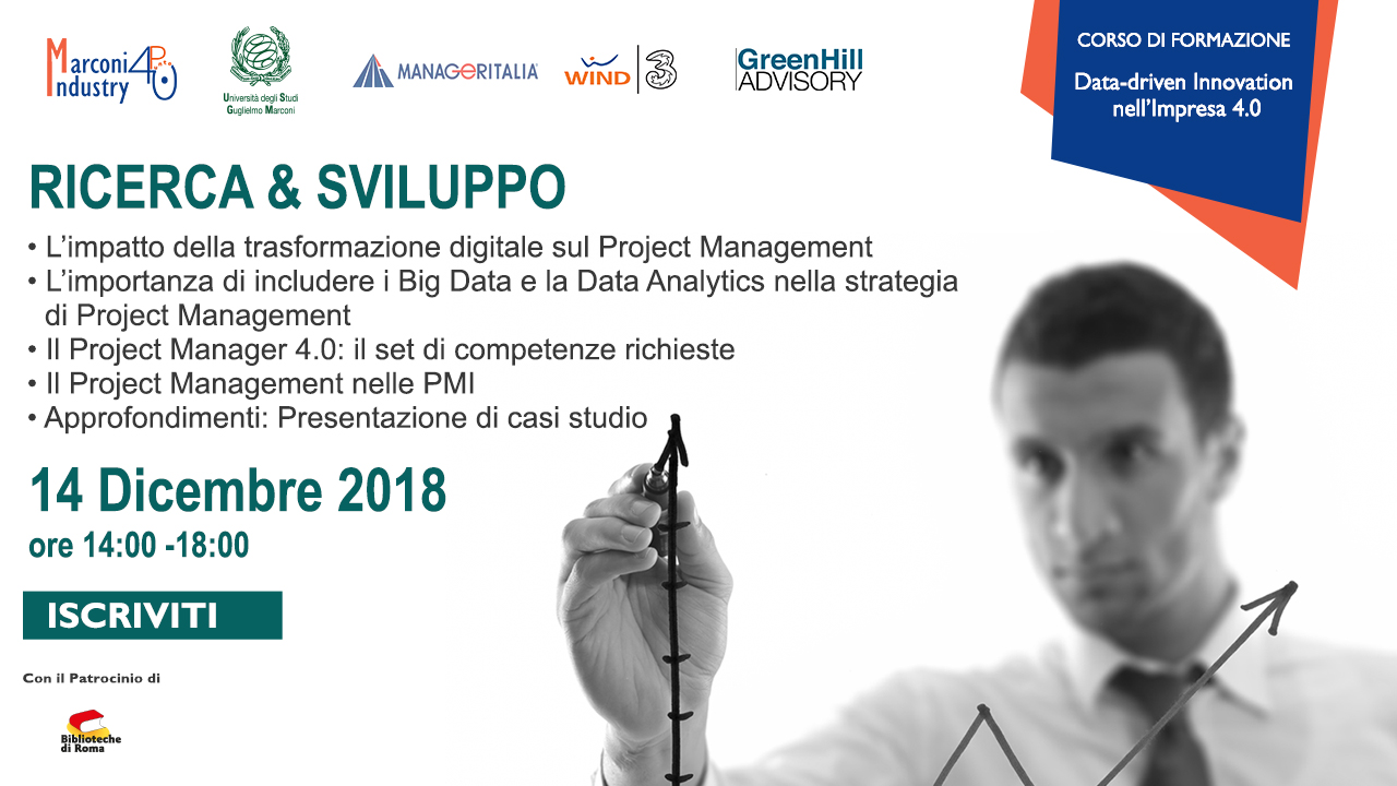Corso Data Driven Innovation nell'Impresa 4.0