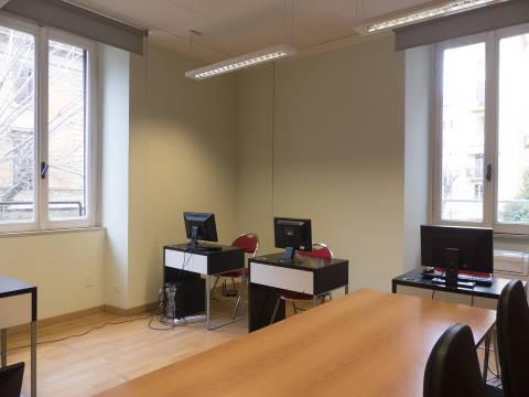 Sala informatica via Dei Gracchi