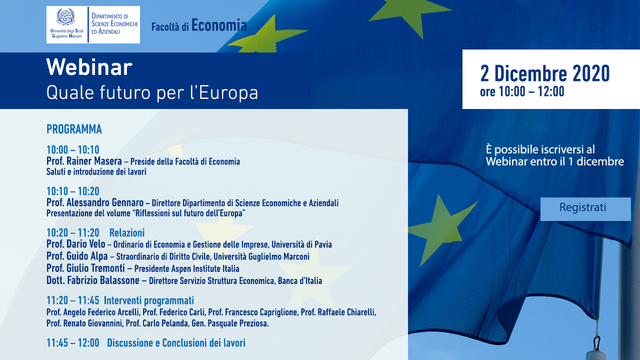 Webina: Quale futuro per l'Europa