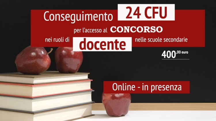 Conseguimento dei 24 CFU Docente scuola secondaria
